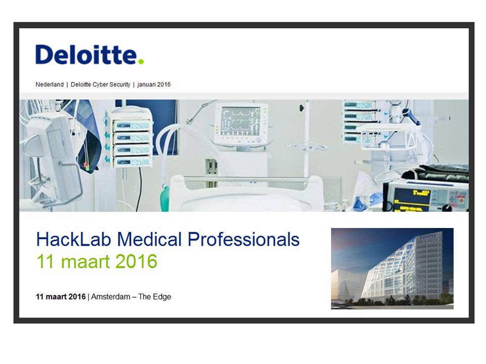 Deloitte HackLab 2016